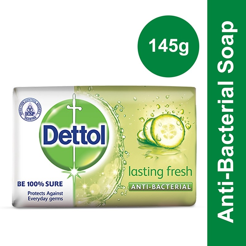Dettol Lasting Fresh Soap 145g