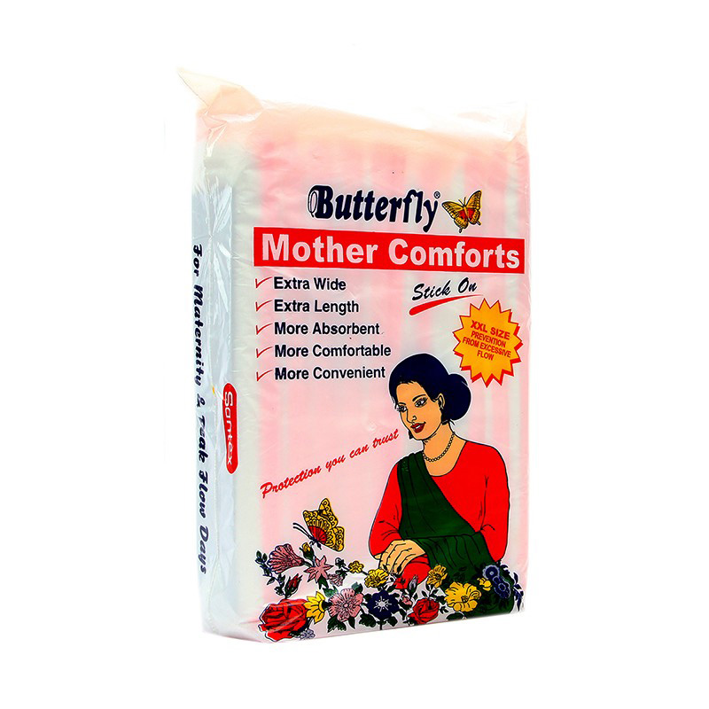 Butterfly Pads Mother Comforts Stick On XXL (pack of 10)