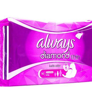 Always Diamond Pads Long (Pack of 16)
