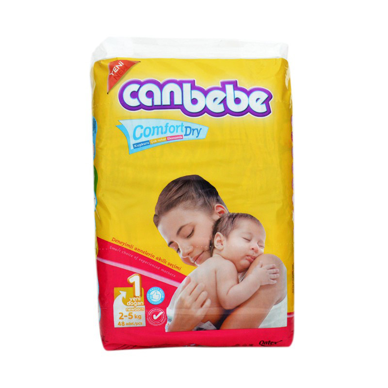 Canbebe Diaper New Born (2-5kg) (Pack Of 48)