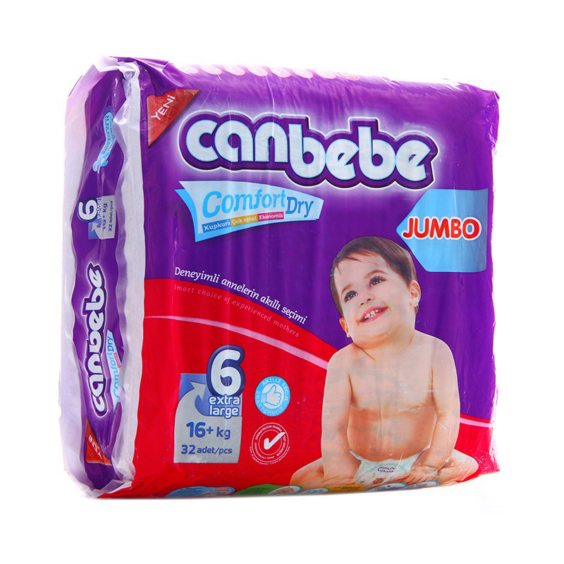 Canbebe Diaper Jumbo Extra Large (16+kg) (Pack Of 32)