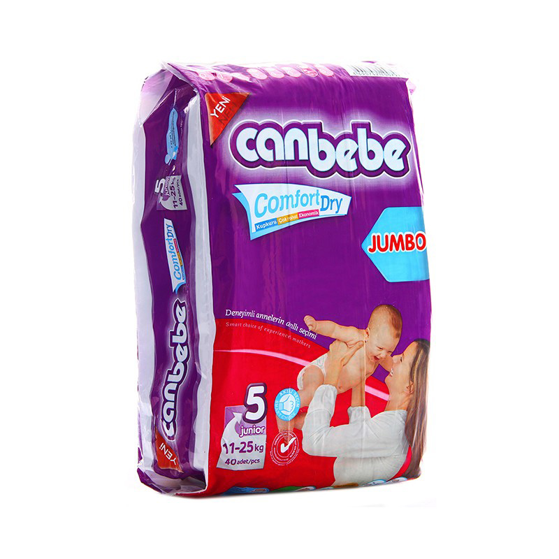 Canbebe Diaper Jumbo Junior (11-25kg) (Pack Of 40)