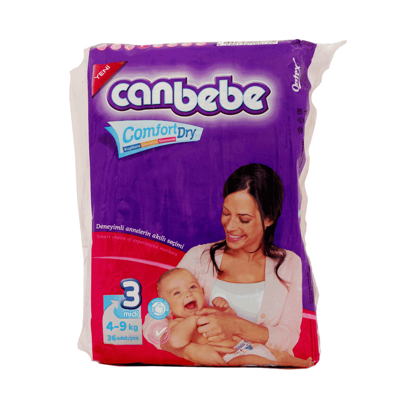 Canbebe Diaper Midi (4-9kg) (Pack Of 36)