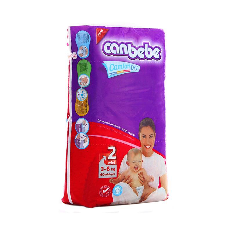 Canbebe Diaper Mini (3-6kg) (Pack Of 40)