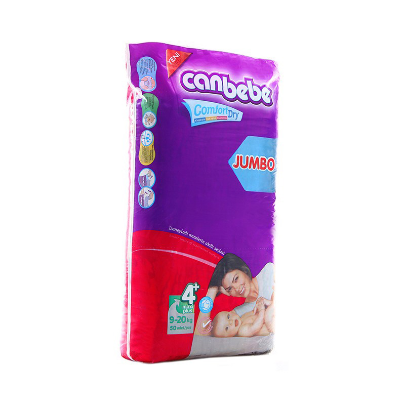 Canbebe Diaper Jumbo Maxi Plus (9-20kg) (Pack Of 50)