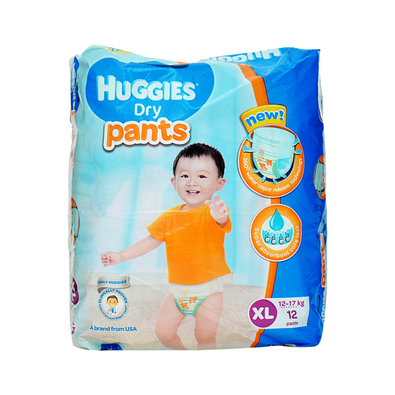 Huggies Dry Pants XL (Pack Of 12)