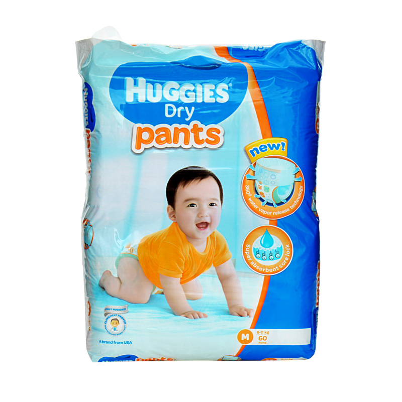 Huggies Dry Pants Medium (Pack Of 60)