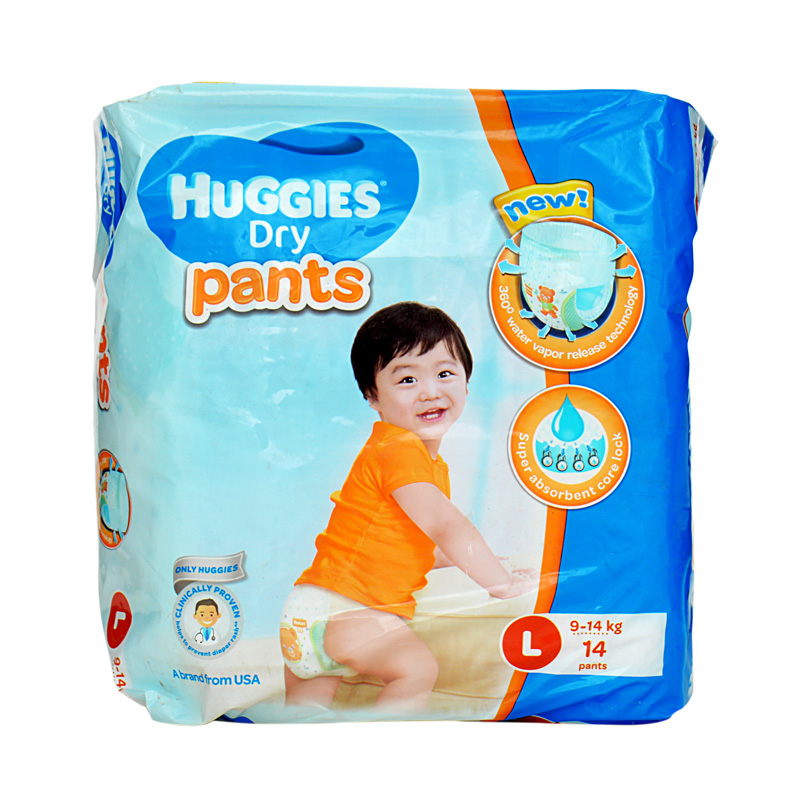 Huggies Dry Pants Large (Pack Of 14)