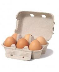 Fresh 6 Desi Eggs - Half Dozen Desi