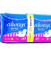 Always Pads Maxi Thick Super Plus - Pack of 18